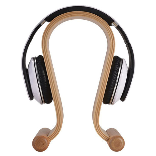 Samdi Wooden Headphone Holder Stand & Desktop Hanger - Birch White